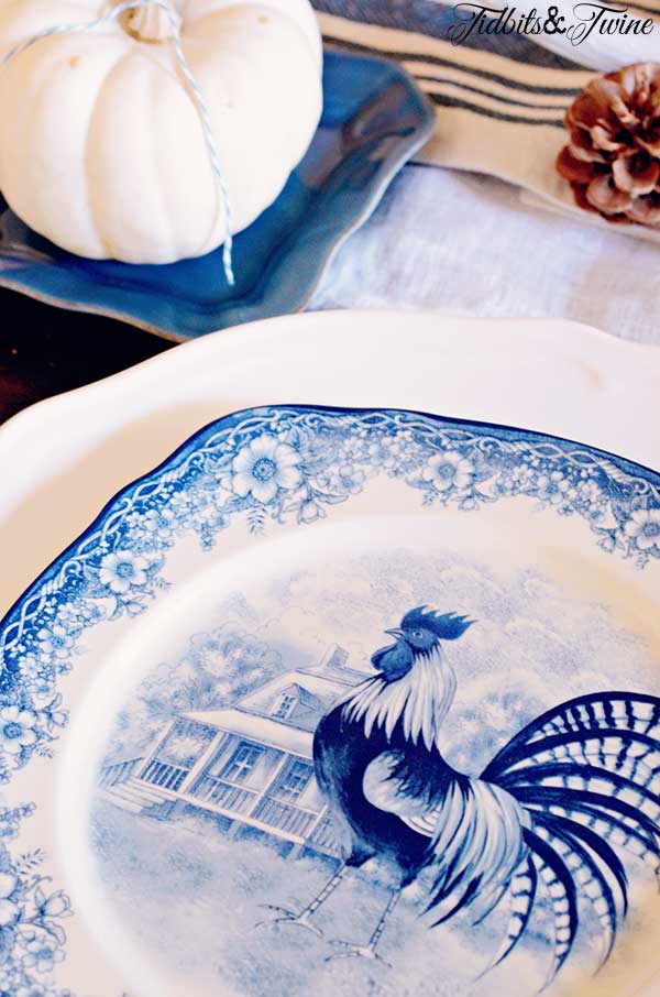 TIDBITS TWINE Blue and White Chicken Plates Shopping for Vintage Cameras, Ironstone & More