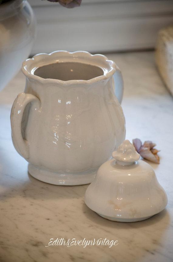 TIDBITS & TWINE Ironstone Sugar Jar 2