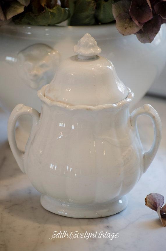 TIDBITS & TWINE Ironstone Sugar Jar