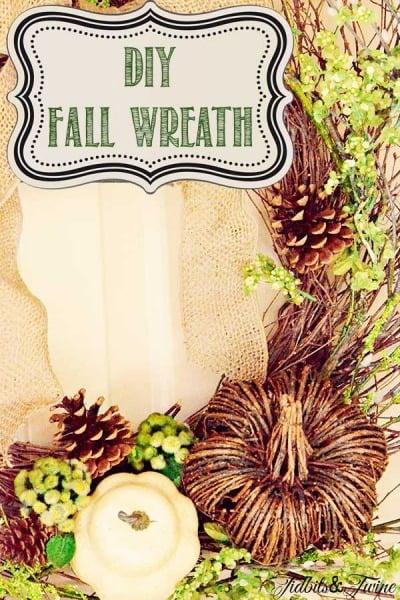 DIY Woodsy Fall Wreath