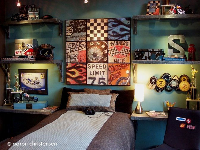 15 cool teenage boy room ideas skateboard skateboard shelves and boys - Cool teen boy bedroom ideas ...