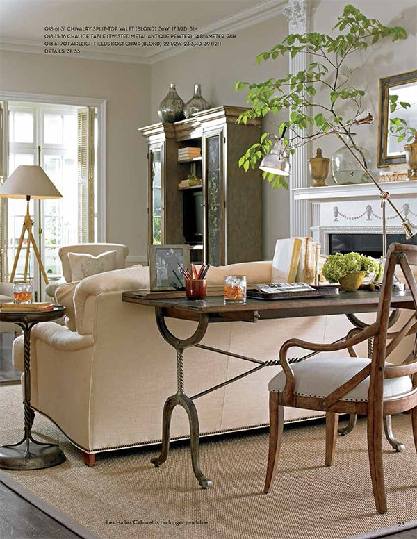 {Stanley Furniture European Farmhouse Split Top Valet}