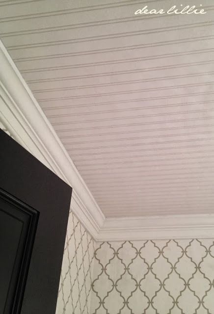 Diy Beadboard Wallpaper Project