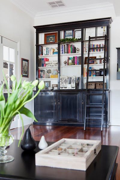 Fabulous Library Bookcases With Ladders Tidbitstwine Largest Home Design Picture Inspirations Pitcheantrous