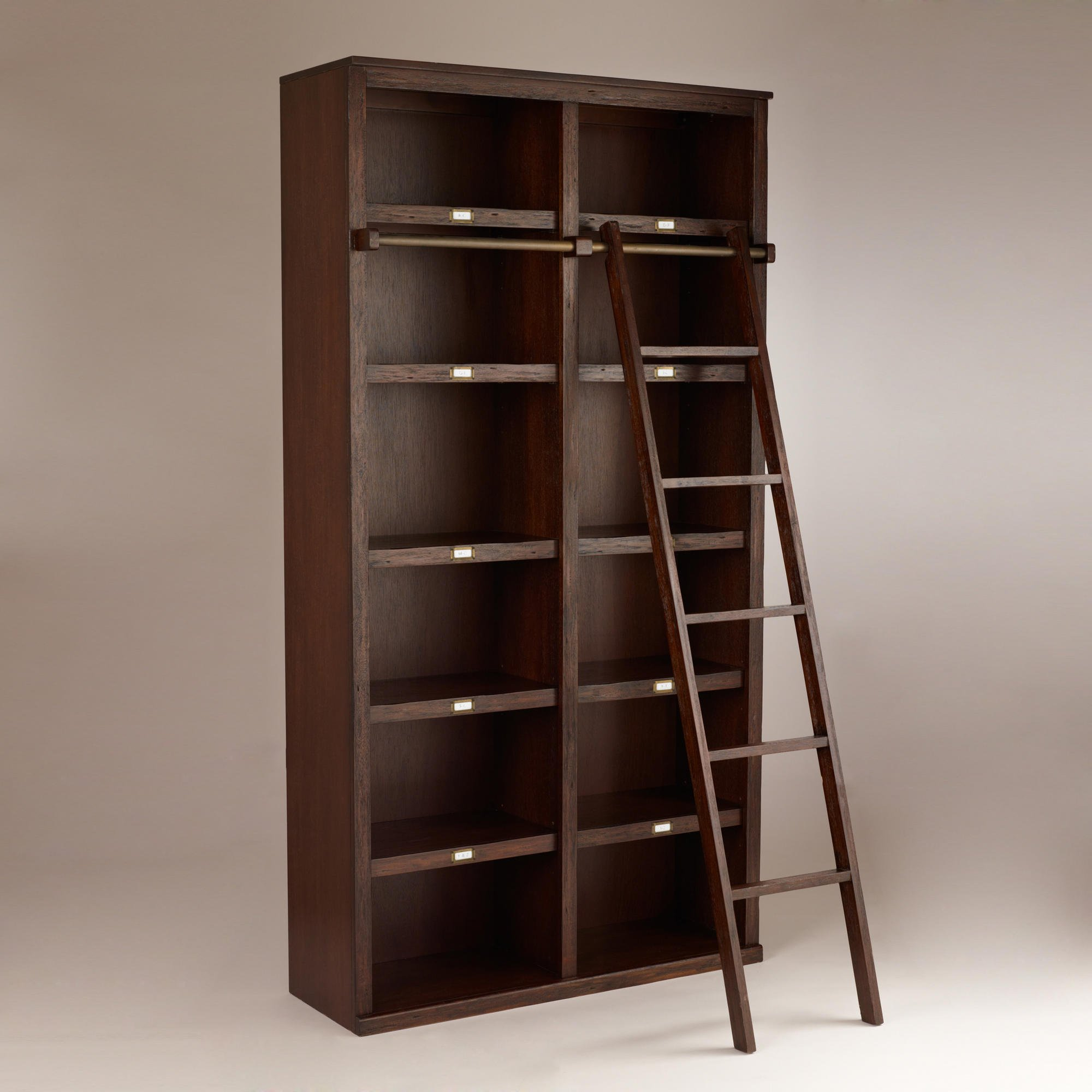 House Bookshelf: Library Bookcases With Ladders