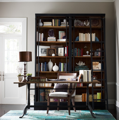 Tremendous Library Bookcases With Ladders Tidbitstwine Largest Home Design Picture Inspirations Pitcheantrous