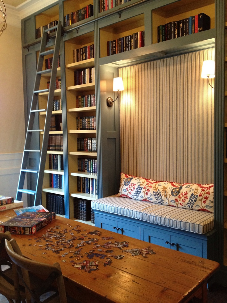 Brilliant Library Bookcases With Ladders Tidbitstwine Largest Home Design Picture Inspirations Pitcheantrous