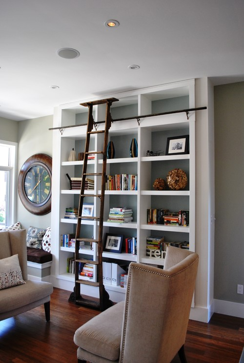 Admirable Library Bookcases With Ladders Tidbitstwine Largest Home Design Picture Inspirations Pitcheantrous
