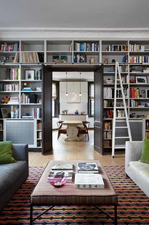library bookcases with ladders tidbits twine. Black Bedroom Furniture Sets. Home Design Ideas