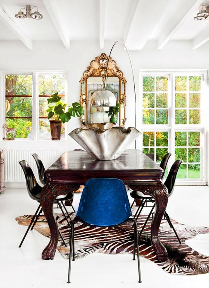 Mixed Metal Dining Mix It Up: Metal Finishes