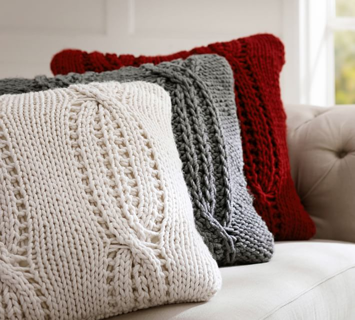 Pottery Barn Cable Knit PIllow