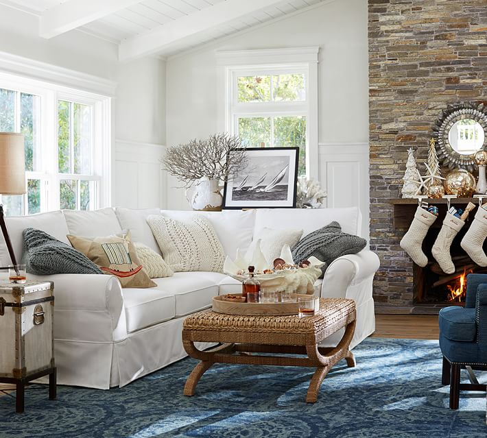 pottery barn living room elements of a cozy home 11729