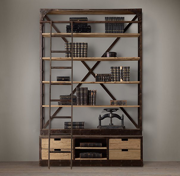 {Restoration Hardware 1950s Dutch Shipyard Triple Shelving}