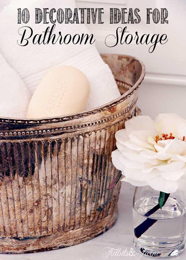 Creative Ideas for Beautiful Bathroom Storage