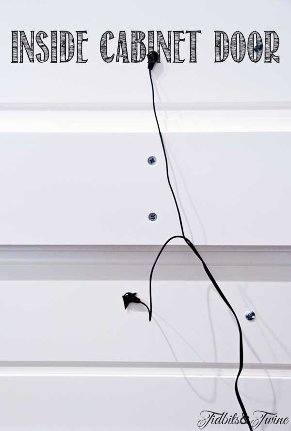 TIDBITS TWINE IR Repeater Cabinet Door Decoratively Hide TV Components {and Still Work Your Remote}
