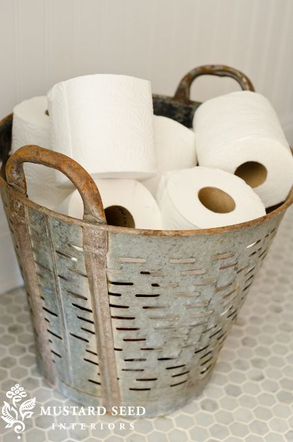 TIDBITS & TWINE Olive Bucket Toilet Paper Holder