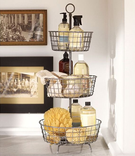 TIDBITS & TWINE Tiered Basket Bathroom Storage