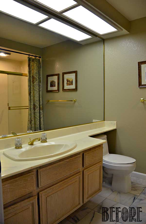 bathroom soffit lighting guest bathroom makeover reveal tidbits amp twine 11521
