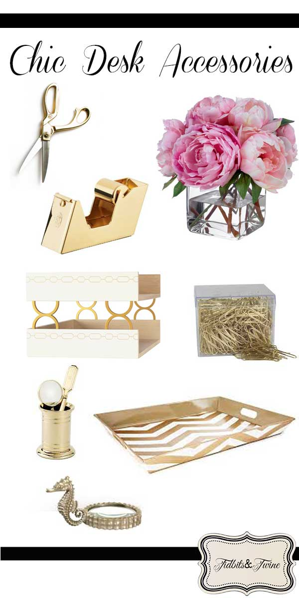 chic office supplies crushing on gold desk accessories 13530