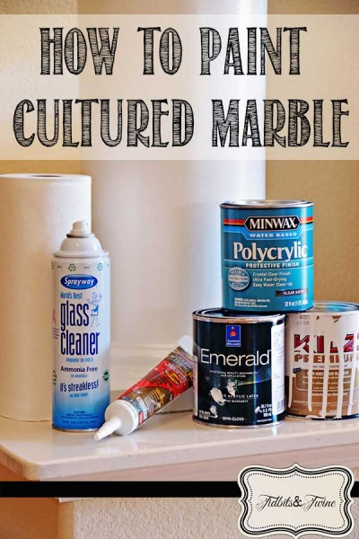 How to Paint Cultured Marble {an Easy Update}