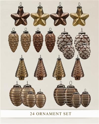 Balsam Hill Mercury Glass Ornament Set