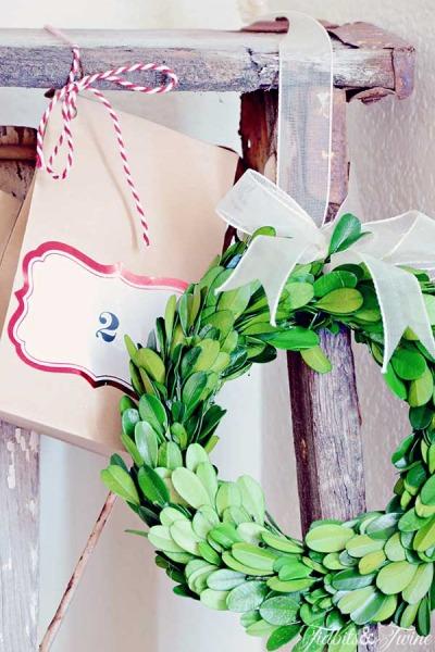 DIY Christmas Ladder Advent Calendar
