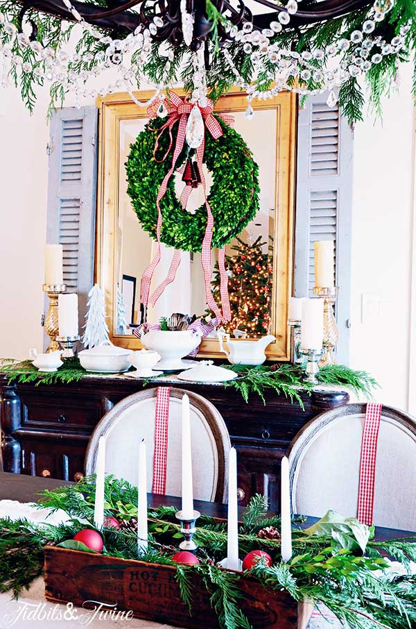 TIDBITS TWINE Christmas Dining Buffet and Table 2 Christmas in the Dining Room
