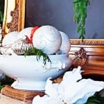 Christmas fireplace mantel display