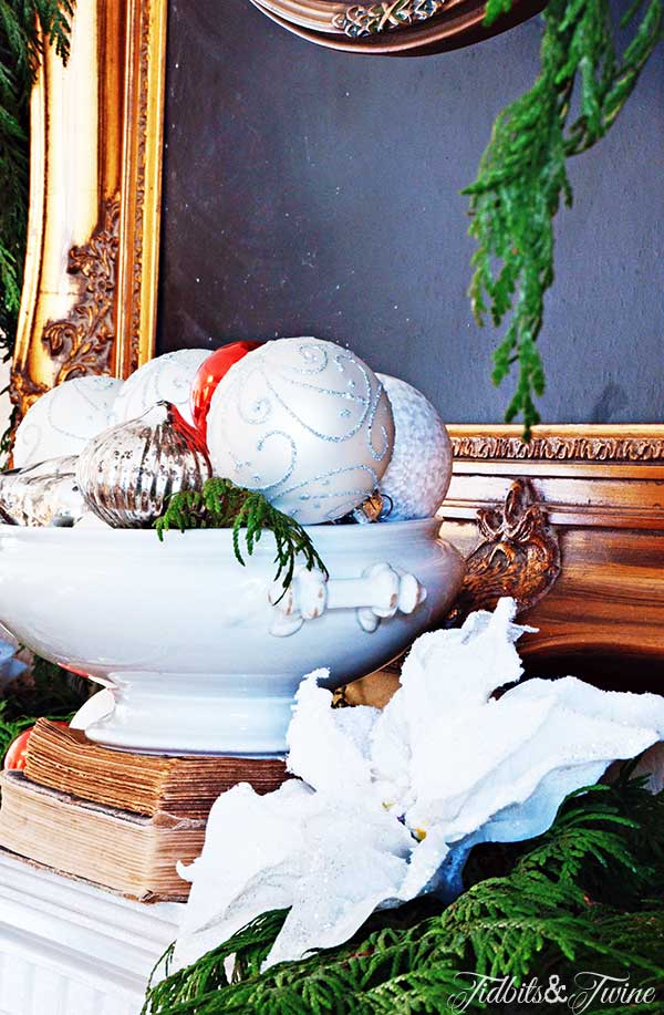 TIDBITS-&-TWINE-Christmas-Living-Room-Mantel-Ironstone-Centerpiece