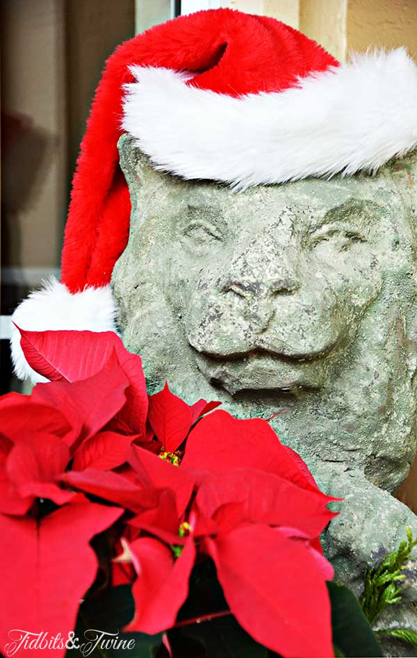 TIDBITS-&-TWINE-Lion-with-Santa-Hat