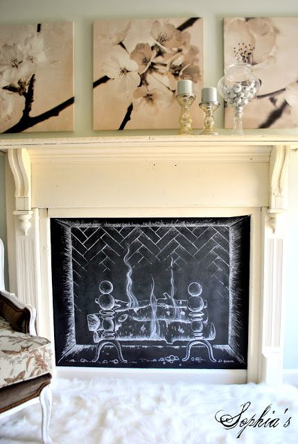 TIDBITS & TWINE Chalkboard Fire Image