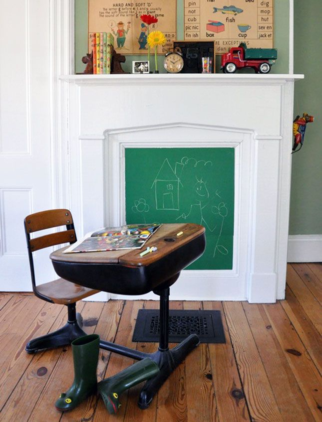 TIDBITS & TWINE Childrens Chalkboard Fireplace