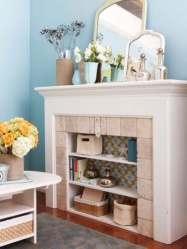 TIDBITS & TWINE Fireplace Shelving