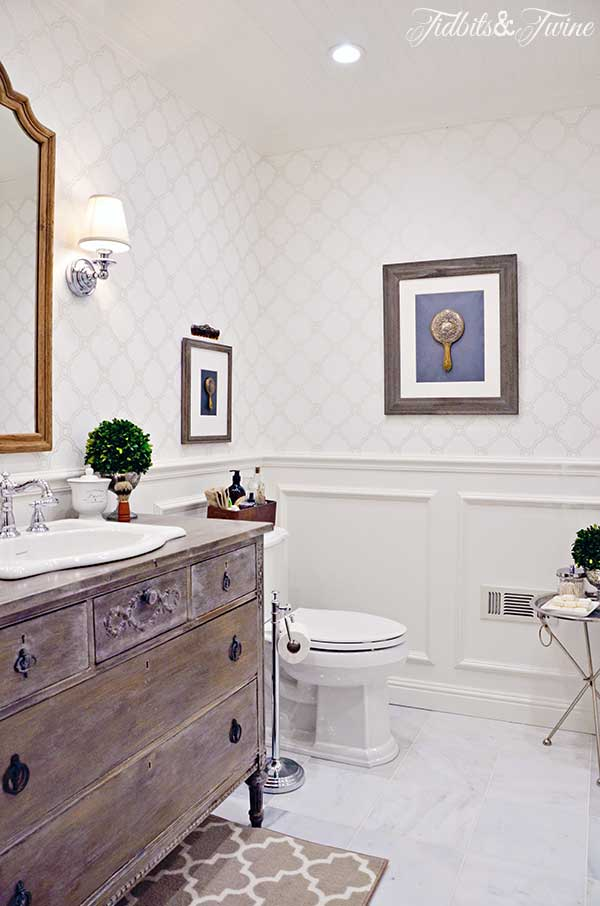 TIDBITS&TWINE Guest Bathroom Remodel - From builder-grade to beautiful!