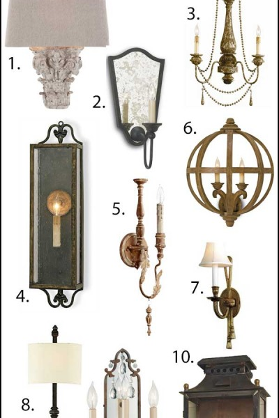 10 Favorite Wall Sconces {Hardwire & Plug-In}