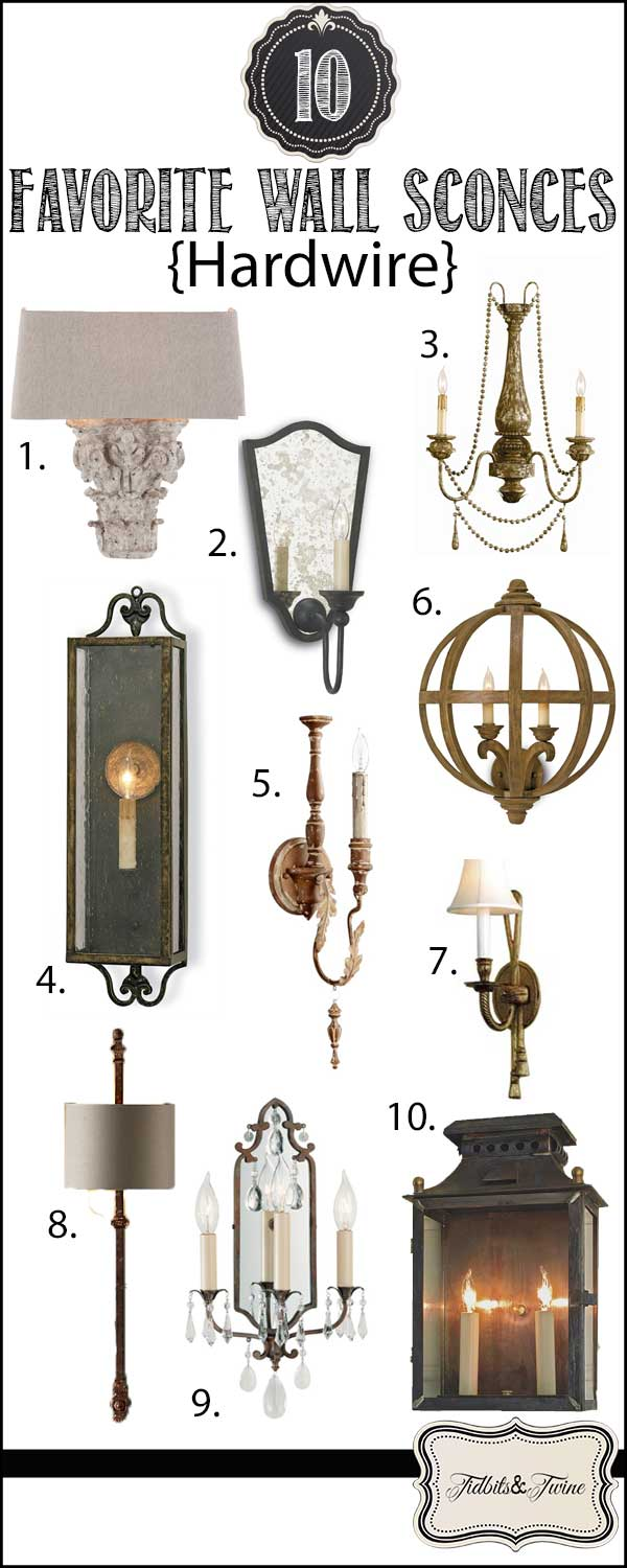 Top 10 Favorite Hardwire Wall Sconces from TIDBITS&TWINE!