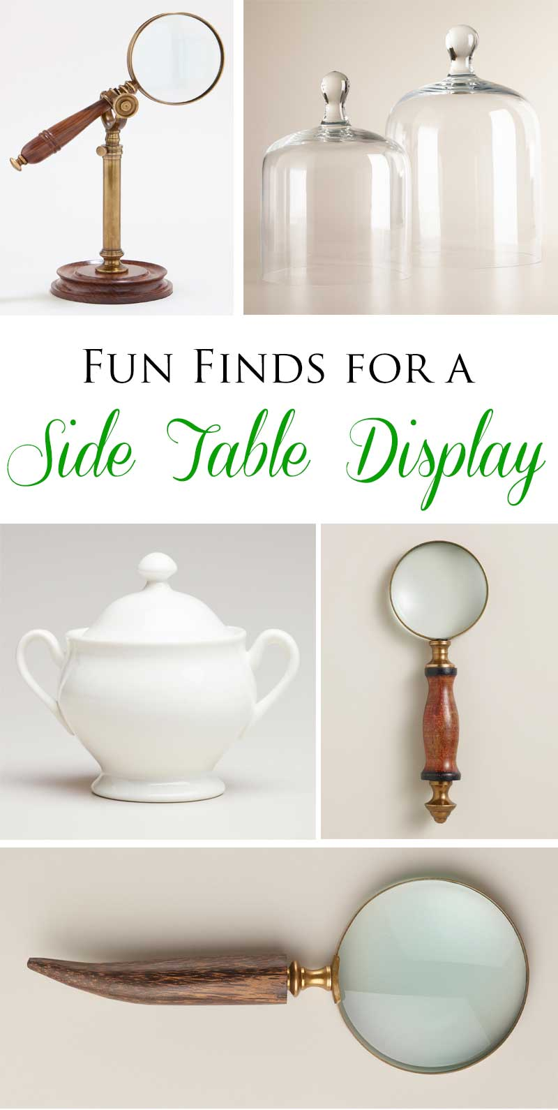 TIDBITS & TWINE World Market Side Table Accessories