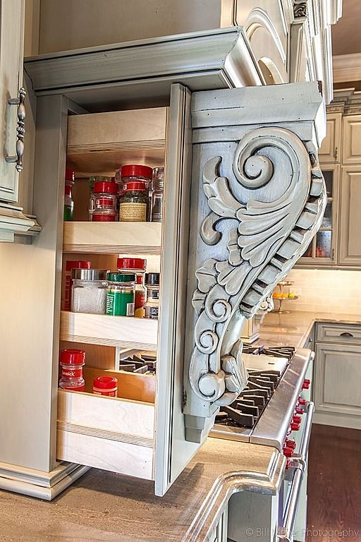 10 clever uses for corbels tidbits twine for Hidden kitchen storage ideas