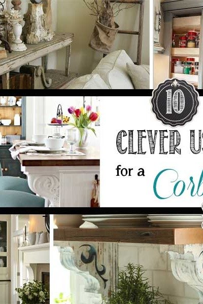 10 Clever Uses for Corbels {Around the House}