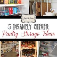 5 Creative Pantry Storage Ideas via Tidbits&Twine