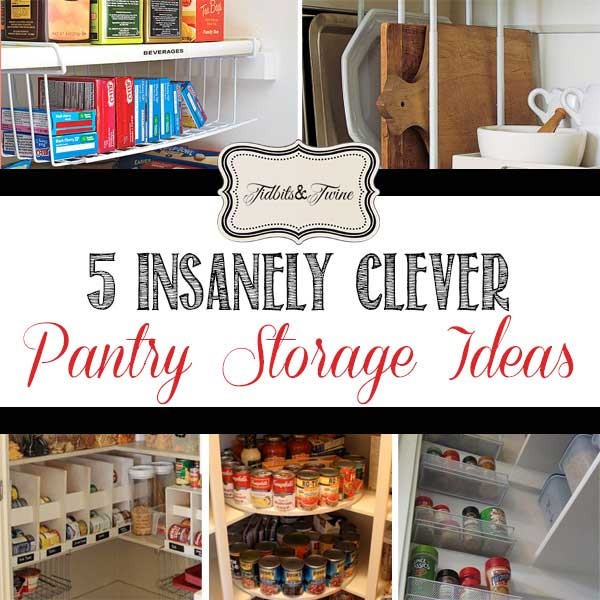 Kitchen Pantry Cabinet Organization Ideas Plate Rack Shelf: 5 Clever {Real-Life} Pantry Storage Ideas