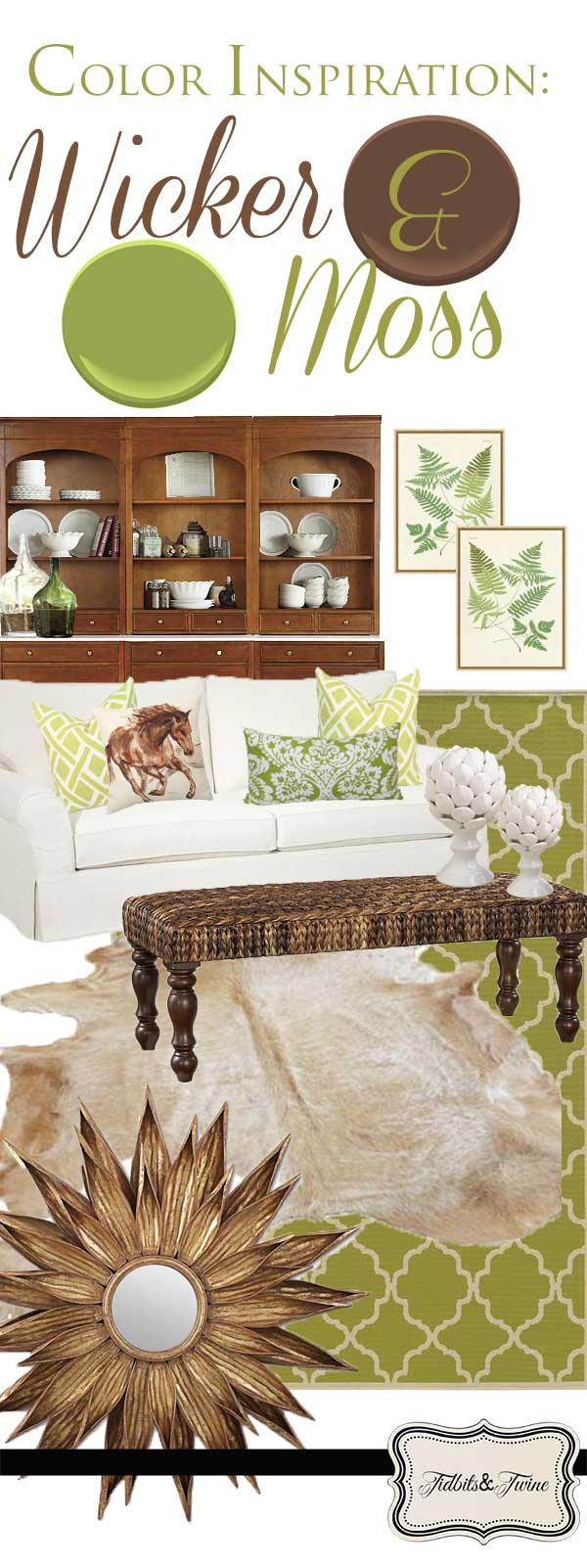 TIDBITS&TWINE: Color Inspiration Wicker and Moss