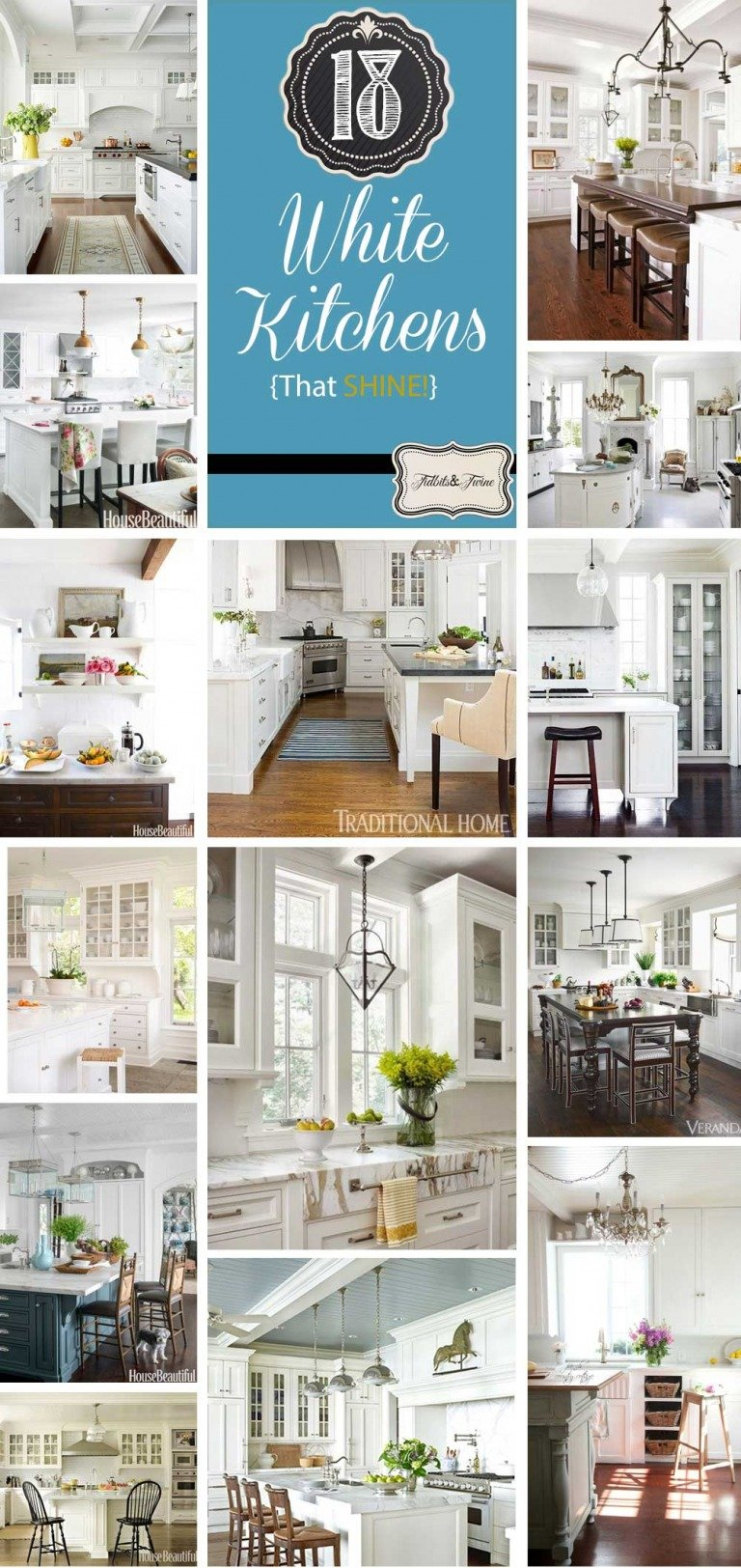 18 White Kitchens {That Are Anything But Boring}