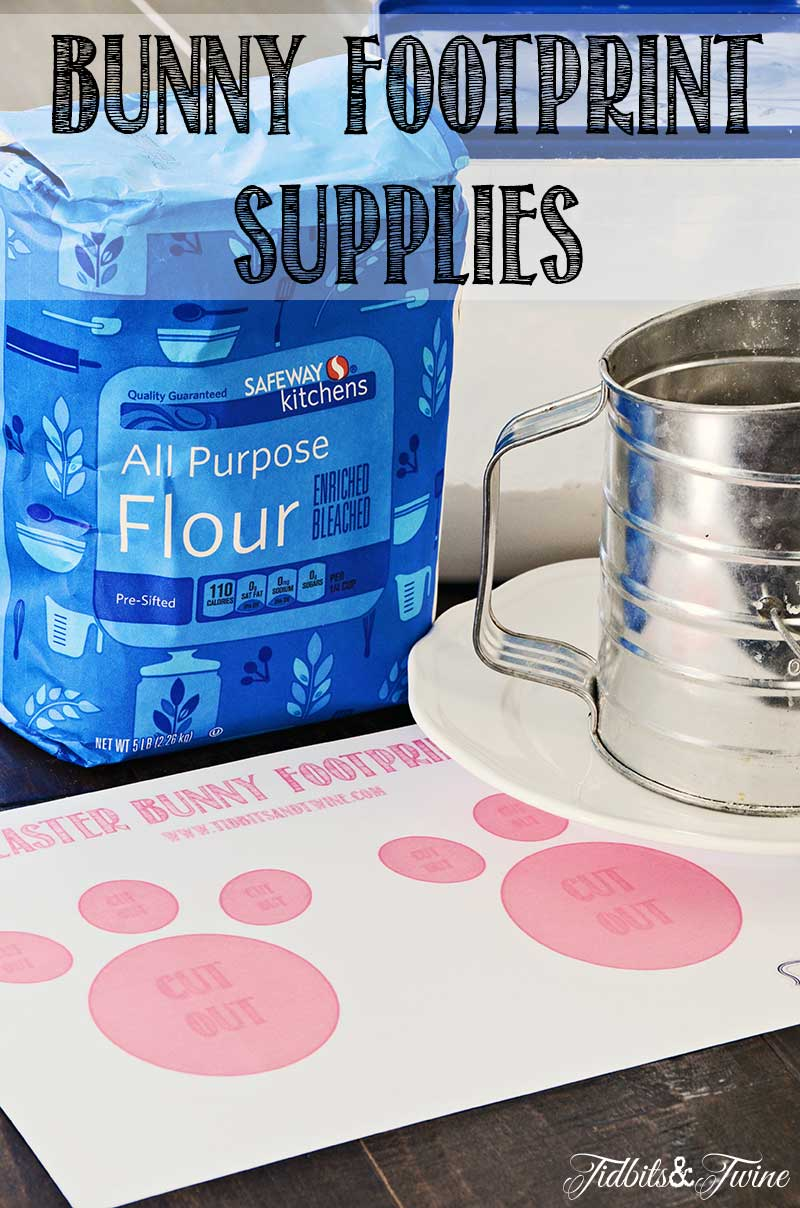 TIDBITS&TWINE Bunny Footprint Supplies