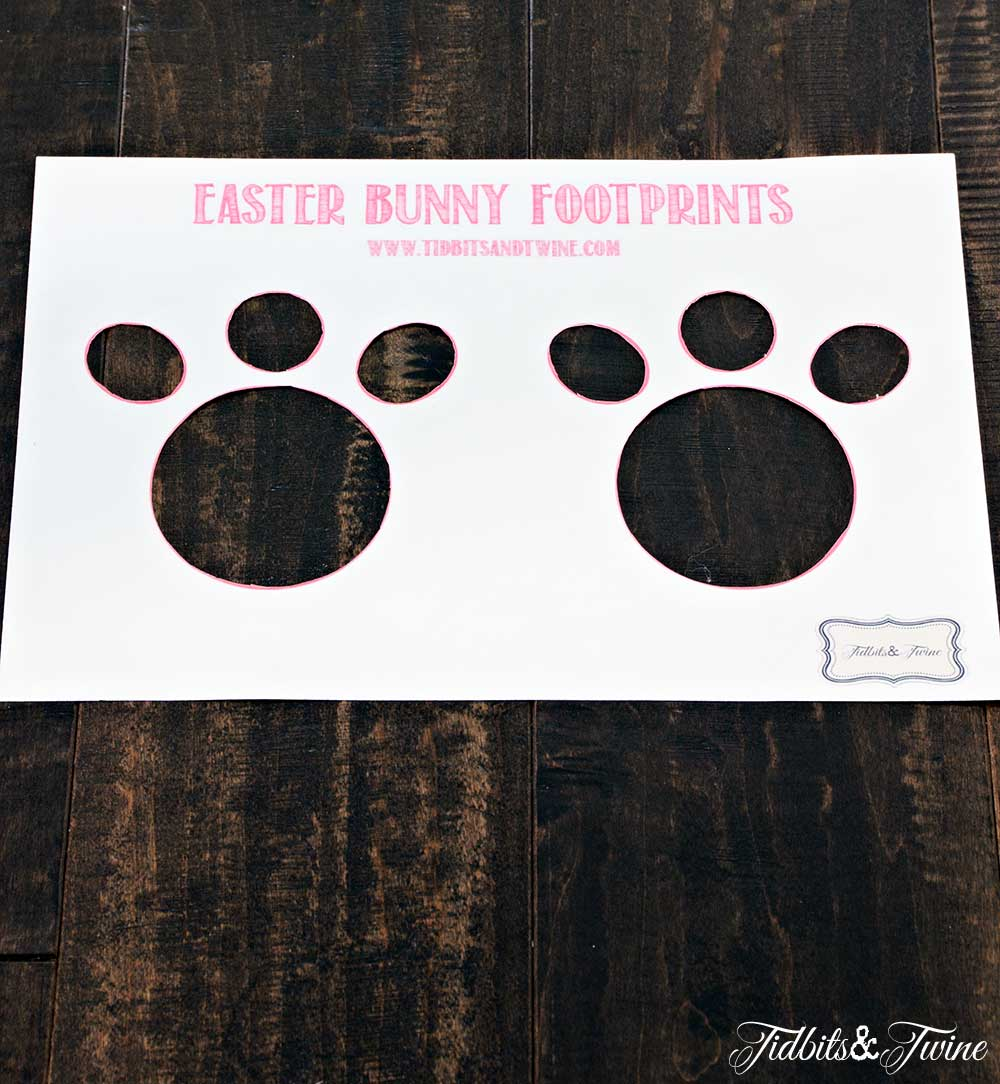 Bunny Feet Template | How To Make Easter Bunny Footprints