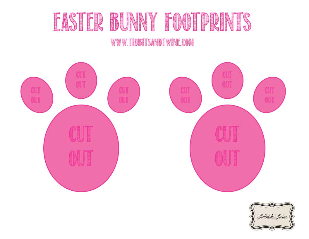 picture about Printable Easter Bunny Footprints identify How toward Create Easter Bunny Footprints