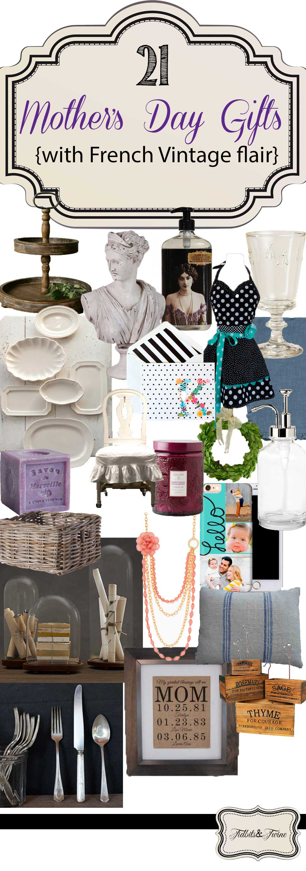 TIDBITS&TWINE Mother's Day Gift Ideas 2015 that have a French Vintage flair