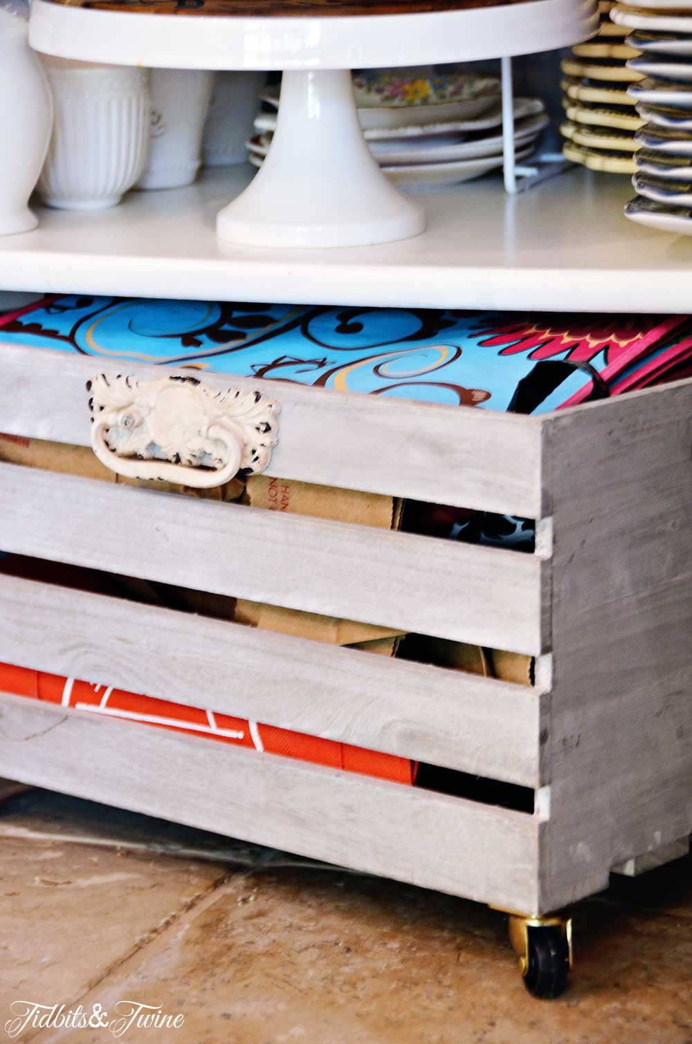 TIDBITS&TWINE Pantry Makeover Rolling Storage Crates
