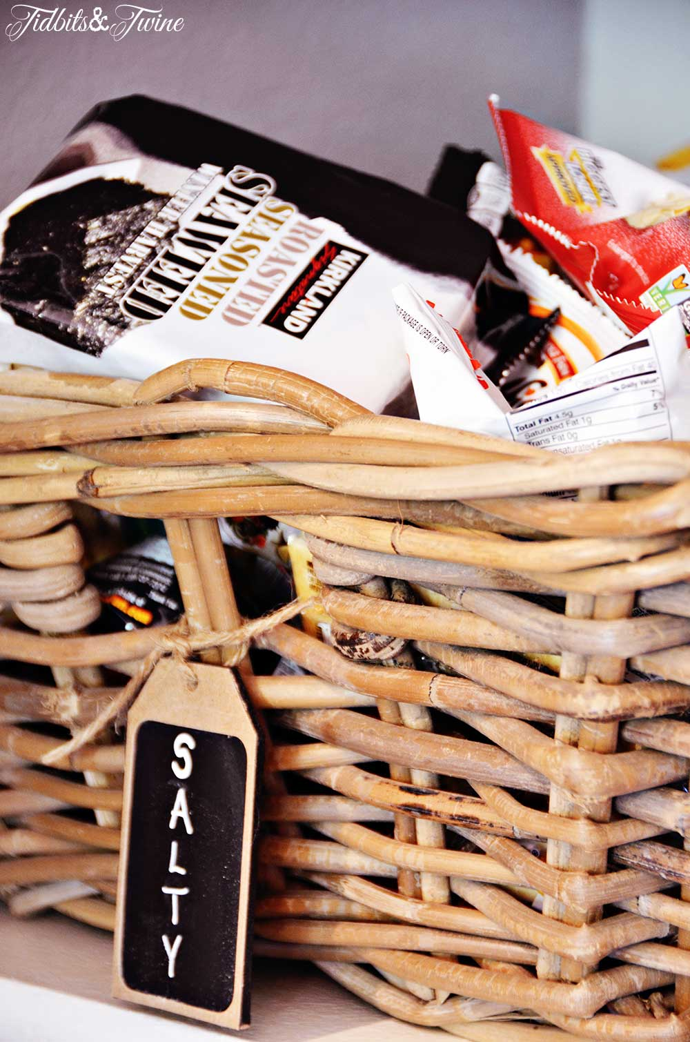TIDBITS&TWINE Pantry Makeover Storage Baskets