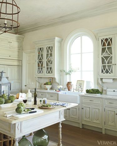 White Kitchen with glass cabinets